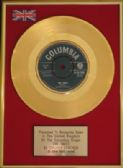 CHUBBY CHECKER - 7inch 24 Carat Gold  Disc  - THE TWIST